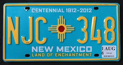 """NEW MEXICO """" CENTENNIAL - 100 YEARS - ENTCHANTMENT """"  NM Graphic License Plate"""