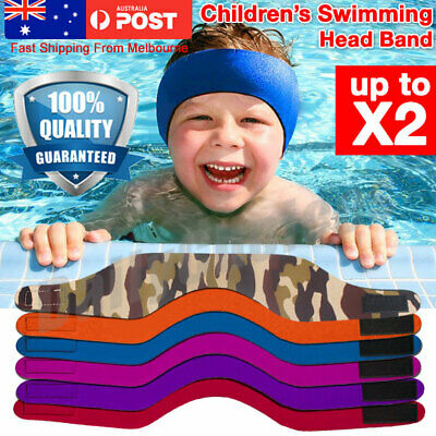 Children's Swimming Ear Head Band Neoprene Wetsuit Kids Head Bands Swimming