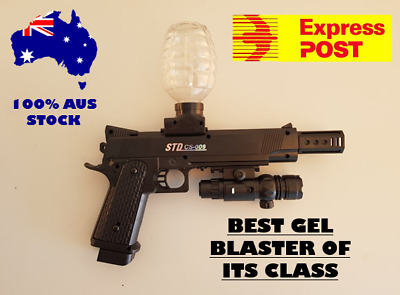 M1911 STD CS-009 Gel Ball Blaster Top-fed Water Crystal Bullets Toy AU Adult