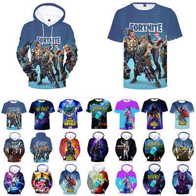 Fortnite Battle Royale XBOX Game Mens 3D Hoodie Tops Casual Costume T-Shirt Tee