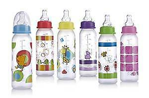 Baby Feeding - Nuby - 8oz Pack-of-2 Printed Non-Drip Bottle (1 Set Only) 1167