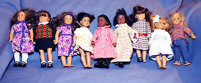 American Girl Lot Of 9 Mini Collectible Dolls Doll Assorted Ag
