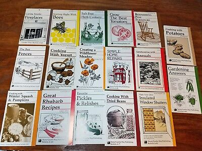 Lot of Vintage Storey Garden Way Publishing Bulliten books - gardening & country