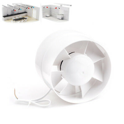 """6"""" Inline Duct Booster Fan Inline Blower Exhaust Ducting Cooling Vent HPS White"""
