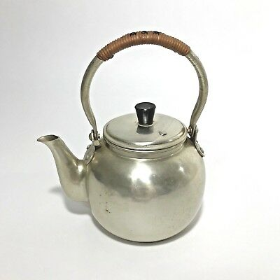 Vintage Tea Pot Otagiri OMC Japan Bamboo Handle Kettle Early Piece Aged Patina