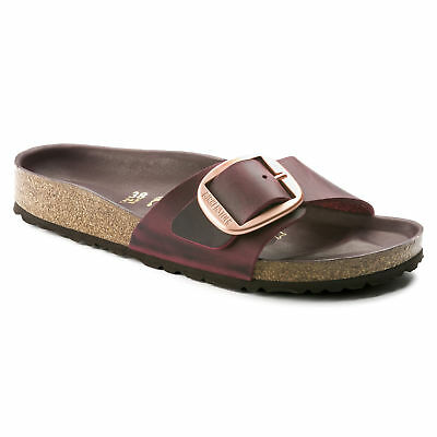 Birkenstock Leather MADRID Big Buckle Zinfandel (Maroon Red) 1011078 1011079