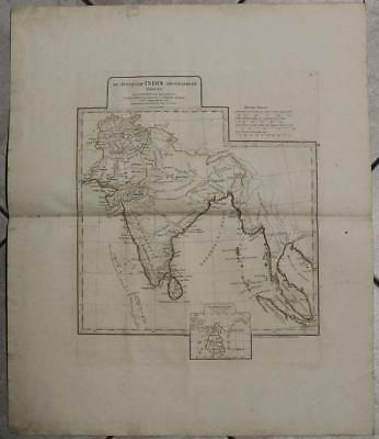 India Sri Lanka South Eastern Asia 1783 D'anville Antique Copper Engraved Map