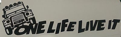 1 X One Life Live It Stickers Land Rover Camel Trophy 4x4 Off Road Jeep