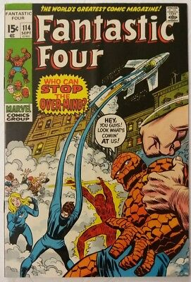 FANTASTIC FOUR #114 Marvel Comics Bronze Age Buscema Upper Midgrade