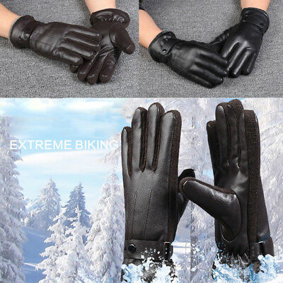 MENS LEATHER GLOVES THERMAL THINSULATE LINED DRIVING SOFT WARM WINTER Xmas Gifts
