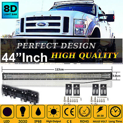 "44""1000W Rampe Led balken Offroad Lichter Scheinwerfer 12/24v LKW Roof Light Bar"