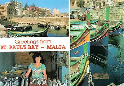 Malta  -  St. Paul's Bay - Fishing village with a typical fish vendor