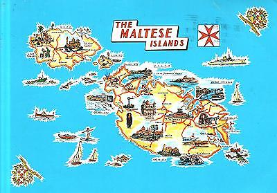 Malta  -  Ideally situadet in the heart of the Mediterranean - Map  -  1998