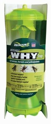 RESCUE! Wasp Hornet And Yellow Jacket Trap Reusable Insect Outdoor Non Toxic
