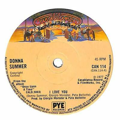 """Donna Summer - I Love You - 7"""" Record Single"""