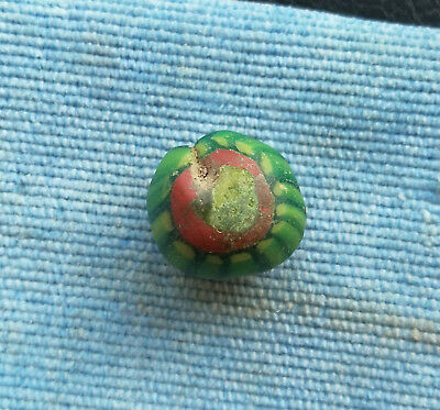 An ancient large glass bead jewelry Kievan Rus Vikings 10 AD super rare color
