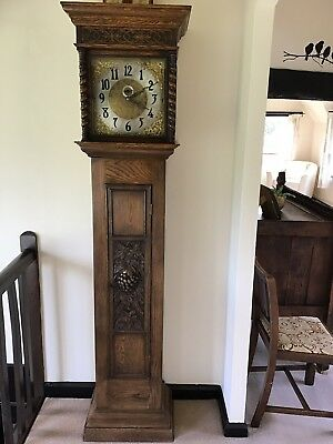 "longcase grandfather clock ""No reserve"""