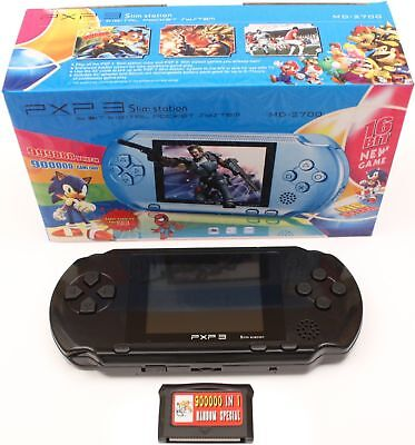 """2.8"""" LCD PXP3 Game Console Handheld Portable 16 Bit Retro Video 150+ Games Gift"""