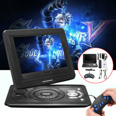 "13.9"" HD TV Portable DVD Player 16:9 LCD 270° Swivel Screen 110-240V UK Plug"