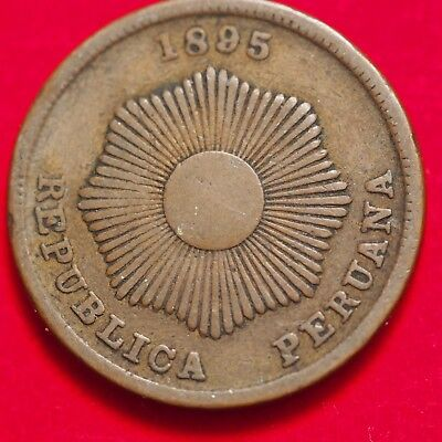 1919 PERU CENTAVO - AU - Great Coin with Luster - Low Mintage - Lot 178