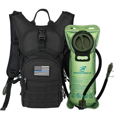 EDC Pack Military Tactical Hydration Backpack with 2L Water Bladder Light Weight