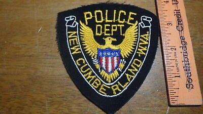 Rare New Cumberland  West Virginia Police  Department Obsolete Patch Bx X#2