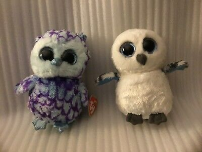 Ty Beanie Boos Oscar The Blue Owl   Ty Beanie Boo Spells The Owl Plush Lot 1037922a3e69