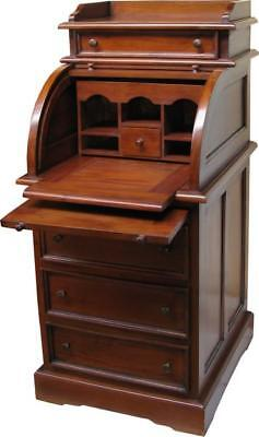 Solid Mahogany Reproduction Writing Bureau Desk  H117 x D50 W55cm Davenport