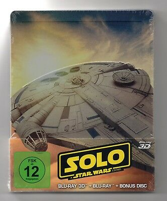Solo: A Star Wars Story 3D- Blu-ray Steelbook - NEW/SEALED-Regions: ABC