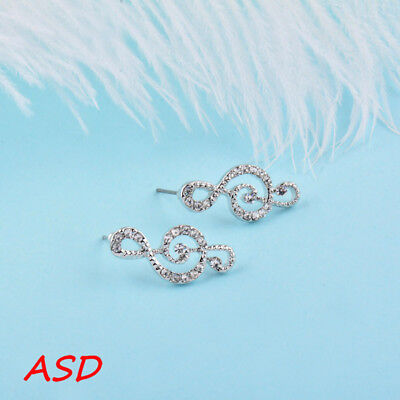 Wholesale 10pcs Musical Note Silver Gold Eardrop Party Wedding Ear Stud