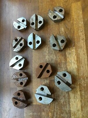 Full Set Of Stump Grinder Smart Pockets. 6x Counter Bored, 6x Threaded