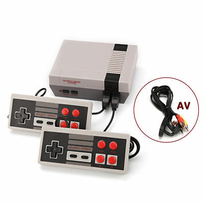 Mini Vintage Retro TV Game Console Classic 620 Built-in Games 2 Controllers