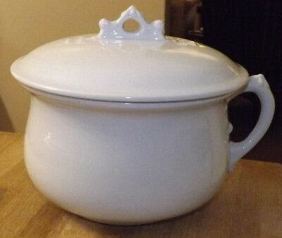 Johnson Bros. Royal Ironstone China. Chamber Pot.(Thunder Mug) with Correct Lid.