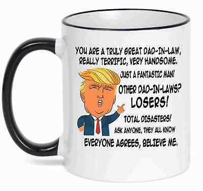 gift for father in law donald trump great father in law funny mug