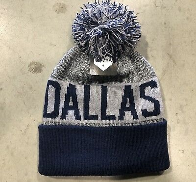 NWT - Dallas Cowboys Team Color Pom pompom Beanie hat cap FREE S/H !!