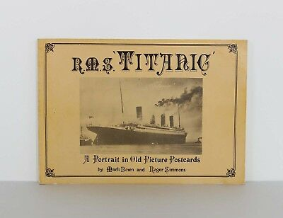 R.M.S. TITANIC A Portrait in Old Picture Postcards 1987 / Antique Postcard Added