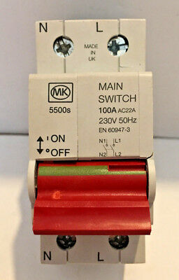 MK Sentry 5500s Main Switch 100A (New Old Stock)