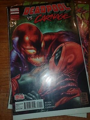 DEADPOOL Vs CARNAGE Issues 1-4. First Prints.