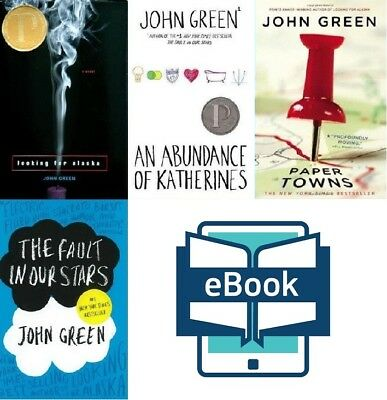 4 eb00ks John Green: The Fault in Our Stars, Paper Towns, Looking @ Epub emailed