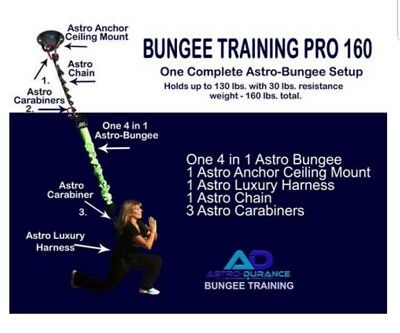 ASTRO-DURANCE Bungee Training Pro 160 - Astro Blue - Small / Medium