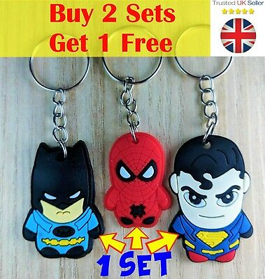 Marvel dc comic cartoon key cover keyring keychain hulk deadpool spider man thor
