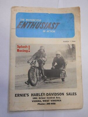 3/1964 The Motorcycle Enthusiast In Action Magazine Harley Davidson, Vienna, WV.