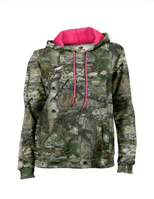 fc5ca4b3e46fa Womens Mossy Oak Camo Pullover Hoodie Sweatshirt Sleeve Camouflage Small 4-6