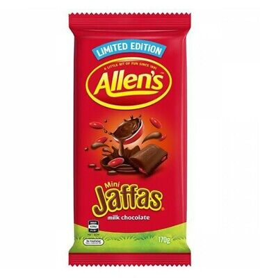 Allens Jaffas Chocolate Block 170gm x 12