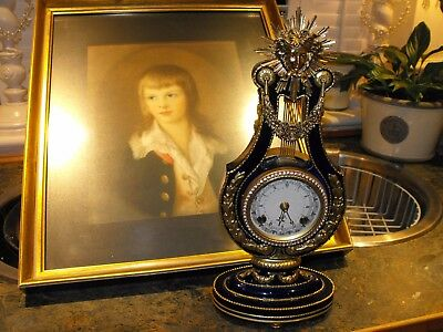 Lovely Old Vintage Antique Franz Hermle Ting Tang Striking French Empire Clock