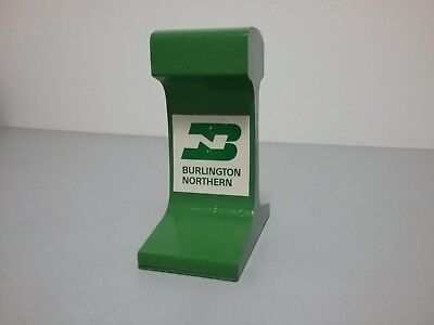 Burlington Northern Rail Section Paperweight or Bookend - Weighs 9#