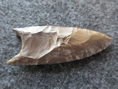 Native American Arrowhead, American Indian Fluted Clovis Point,    #day-02923
