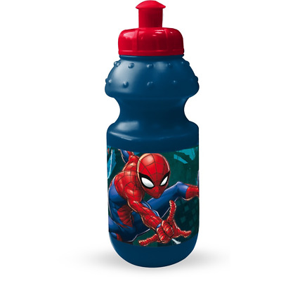 Borraccia Spiderman Marvel Sport Plastica Con Beccuccio Blu Ml. 350 - 48799