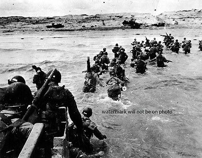 "American Forces landing on Utah Beach D-Day Invasion 8""x 10"" WW2 II  Photo 426"