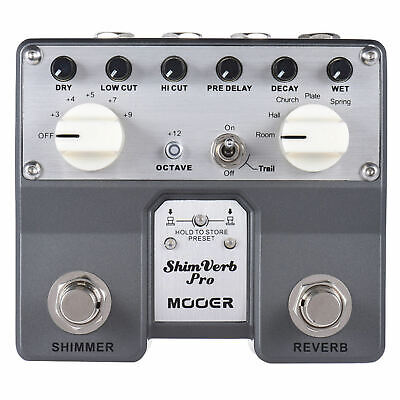 Mooer ShimVerb Pro Micro Reverb Guitar Effects Pedal New